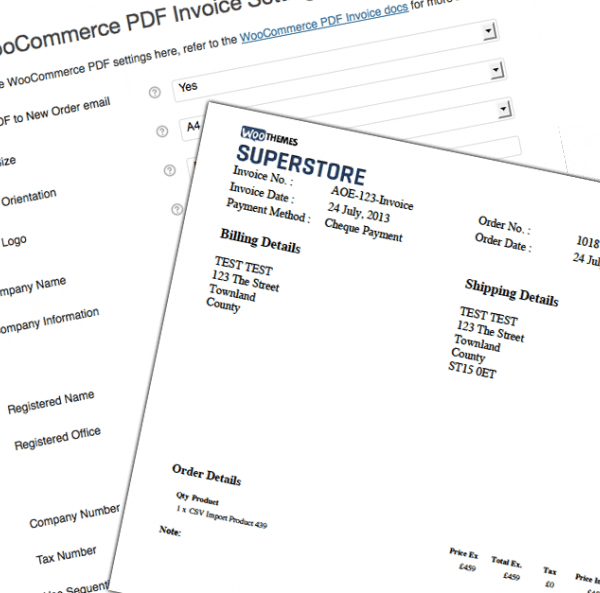 woocommerce pdf invoices extension just for $15 join woogang club, Invoice examples
