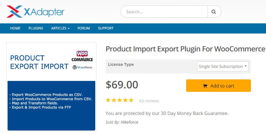 WooCommerce Product Import Export plugin
